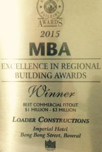 MBA award-2015